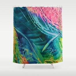 Encaustic VII Shower Curtain