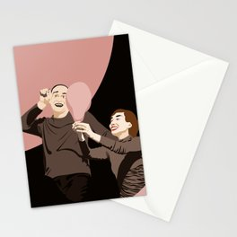Theatre mime Stationery Cards