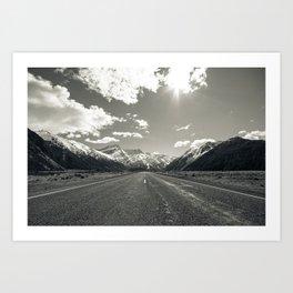 Road to Mount Cook Art Print