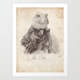 John T. Rex Art Print