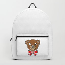 Funny bear face Backpack
