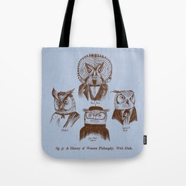 A History of Western Philosophy. With Owls. Tote Bag