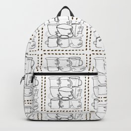 Coffee Beans and Mugs Backpack