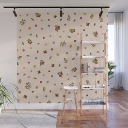 Ice Cream Floral (Salmon) Wall Mural
