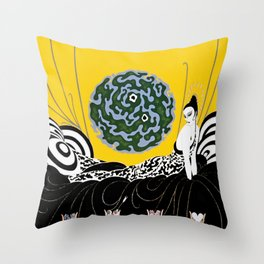 "Art Deco Design ""Selection of the Heart"" Throw Pillow"