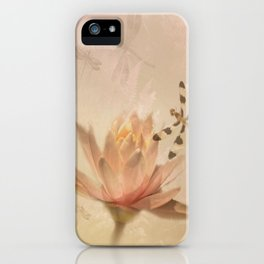 Dragonflies and Water Lily iPhone Case
