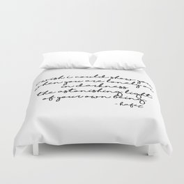 The astonishing light of your own being - Hafiz Duvet Cover