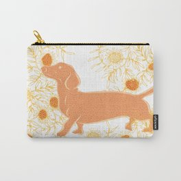 Frolicking sausage dog Carry-All Pouch
