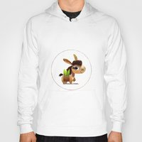 donkey Hoodies featuring Donkey by Jose Campa