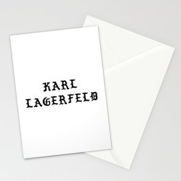 Karl Lagerfeld Calligraphy Stationery Cards