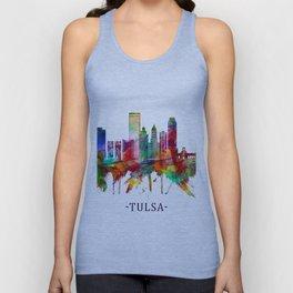 Tulsa Oklahoma Skyline Unisex Tank Top