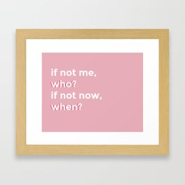 who and when Framed Art Print