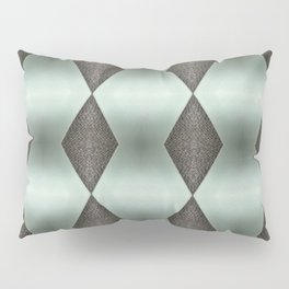 Mint Green, Cream & Chocolate Brown No. 5 Pillow Sham