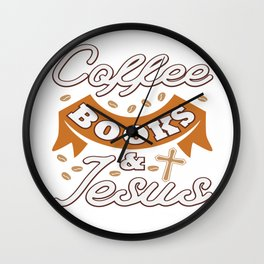 Jesus Christ Quote Coffee Book Religion Prist Gift Wall Clock