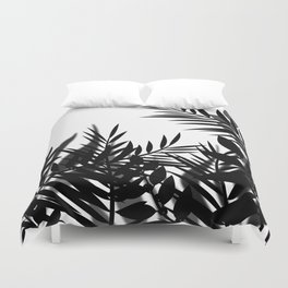 The leaves and berries. Black and white pattern . Duvet Cover