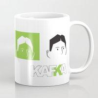 kafka Mugs featuring Kafka Faces by Kafka Prepa Abierta