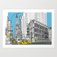 New York Broadway  Art Print