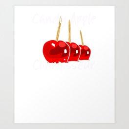 Apple T Shirt Halloween Fall Candy Apple Connoisseur Art Print