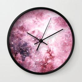 Pink Tarantuala Nebula Core Wall Clock