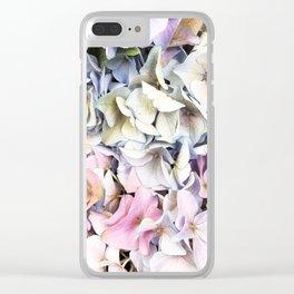 Hydrangea pastel Clear iPhone Case
