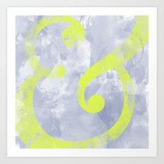 Grungy Ampersand Art Print