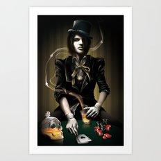 Coup de Poker Art Print