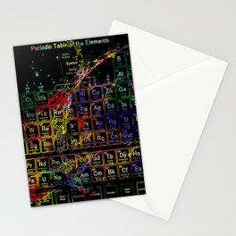 Periodic Table RGB Stationery Cards