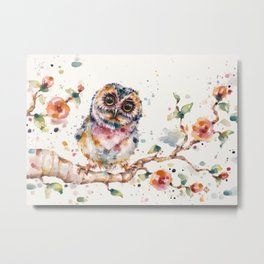 Yep, Cute Is My Middle Name (Owl) Metal Print