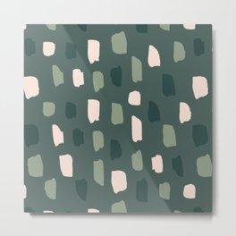 Paintbrush Green Rose Metal Print
