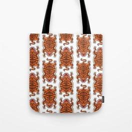 TIBETAN TIGER - ALL OVER (white) Tote Bag
