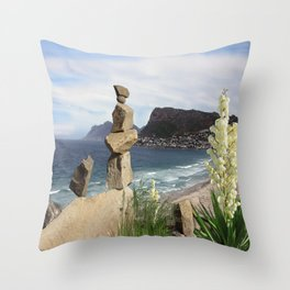 Balance - View of Simons Town Throw Pillow