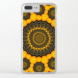 Spider webs, Halloween fractal art Clear iPhone Case