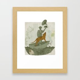 Harmonious Life (With Thylacine) Framed Art Print