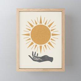 Sunburst Hand Framed Mini Art Print
