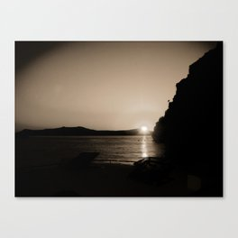 Sunset in Santorini Canvas Print
