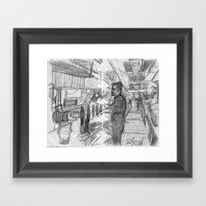 REGULAR EVENING AT A BAR_USA Framed Art Print