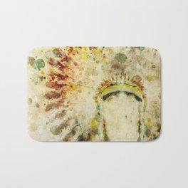 Native American Boho Headdress Bath Mat