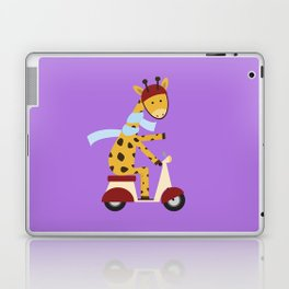 Giraffe on Motor Scooter Laptop & iPad Skin