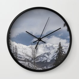 Winter Mountainscape Wall Clock