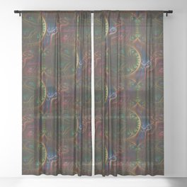 Psycho Gears Fractal Sheer Curtain