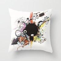 custom Throw Pillows featuring Custom Jip by Custom Horror