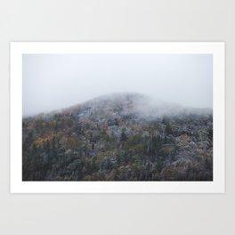 Autumn vs Winter Art Print