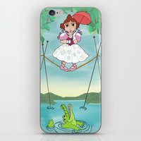 haunted mansion iPhone & iPod Skins featuring Baby Haunted Mansion Tightrope Ballerina by Amanda K. Hootman