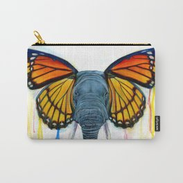 Butterfly Elephant Carry-All Pouch