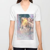 occult V-neck T-shirts featuring Olwen's Occult by Devin C. Fitzpatrick