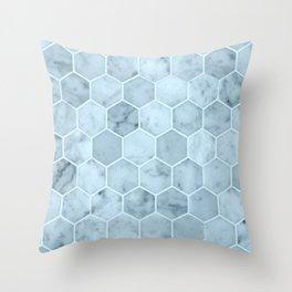 Bright Blue Tiles Throw Pillow