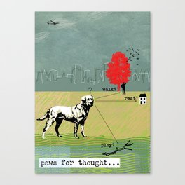 Paws for Thought... Canvas Print
