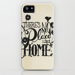 There's No Place Like Home iPhone Case