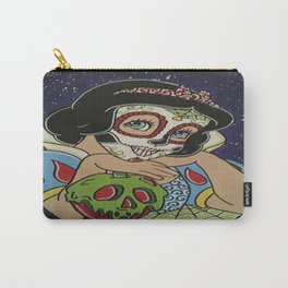 Snow White with apple Sugar Skull Carry-All Pouch