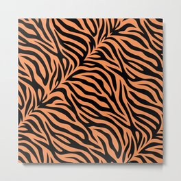 Modern Tiger skin, seamless abstract pattern or background, natural pattern by mother nature. Metal Print